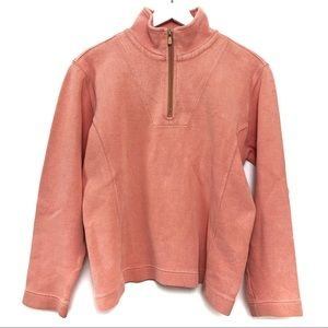 Tommy Bahama Coral 1/4 Zip Pullover Sweater